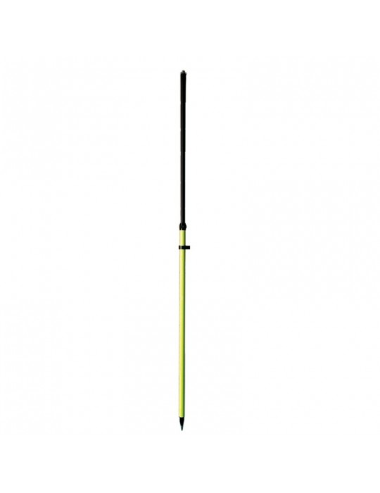 Aluminum pole for GNSS receiver with 3 fixed heigts: 1,60, 1,80 or 2 m